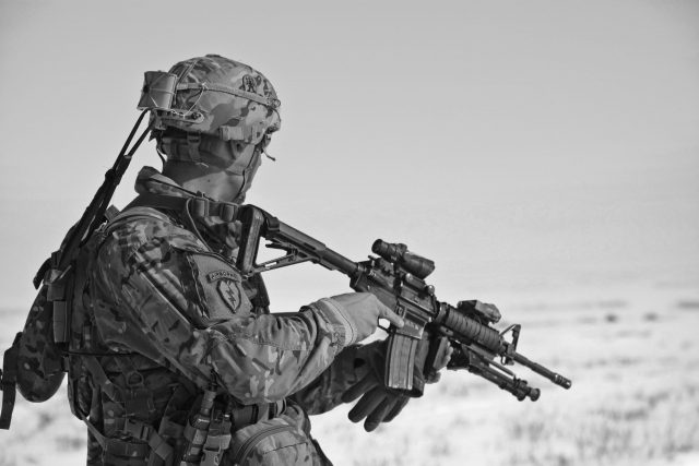 soldier, combat, firearm