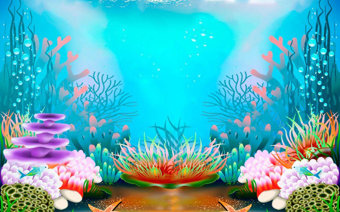 the bottom of the sea, illustration, mar